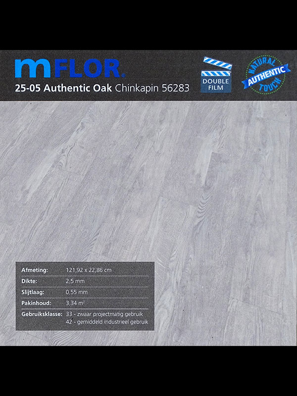 PVC van het merk mflor Authentic Oak info